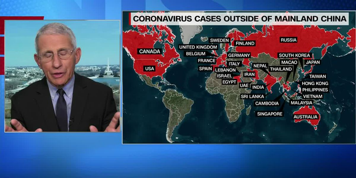 Coronavirus on the brink of pandemic, expert says
