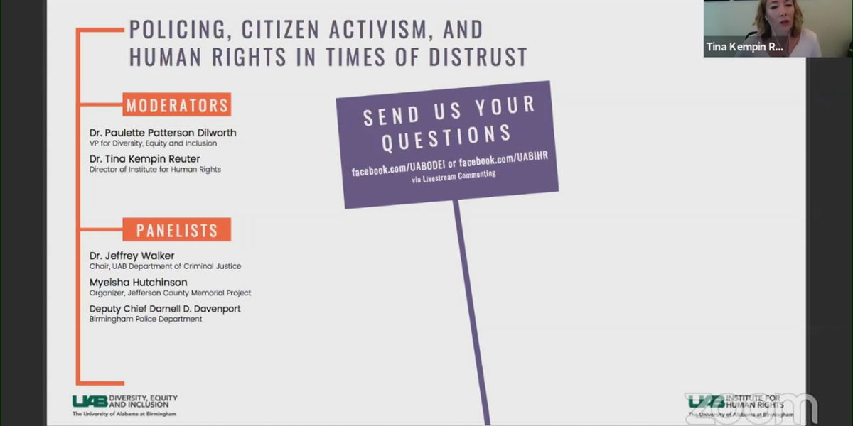 "UAB hosts discussion on ""Policing, Citizen Activism and Human Rights"""