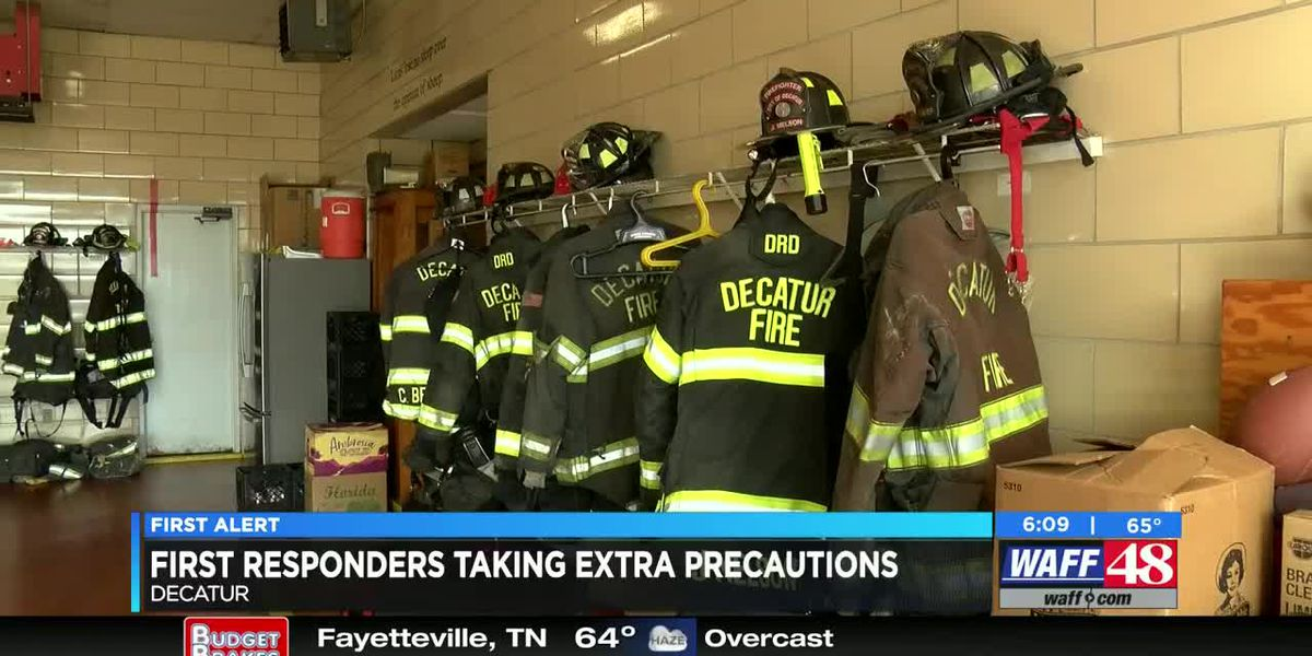 First responders taking extra precautions