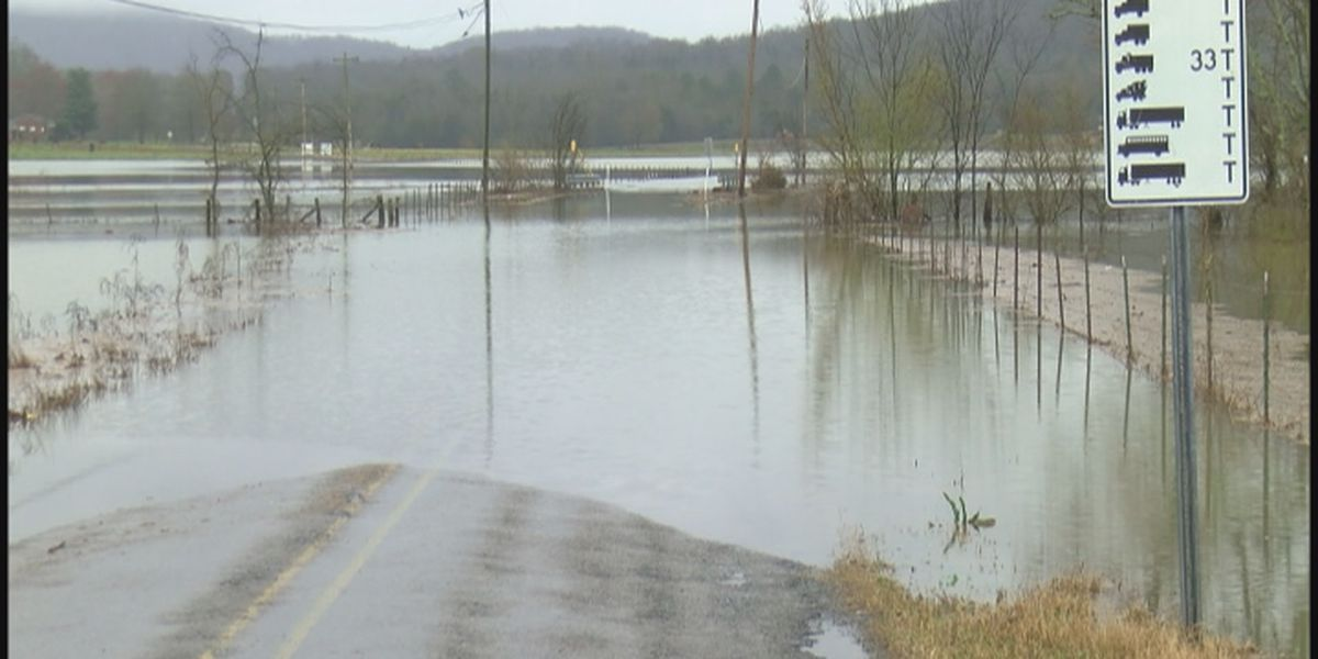 Some roads in Jackson County experiencing flooding conditions