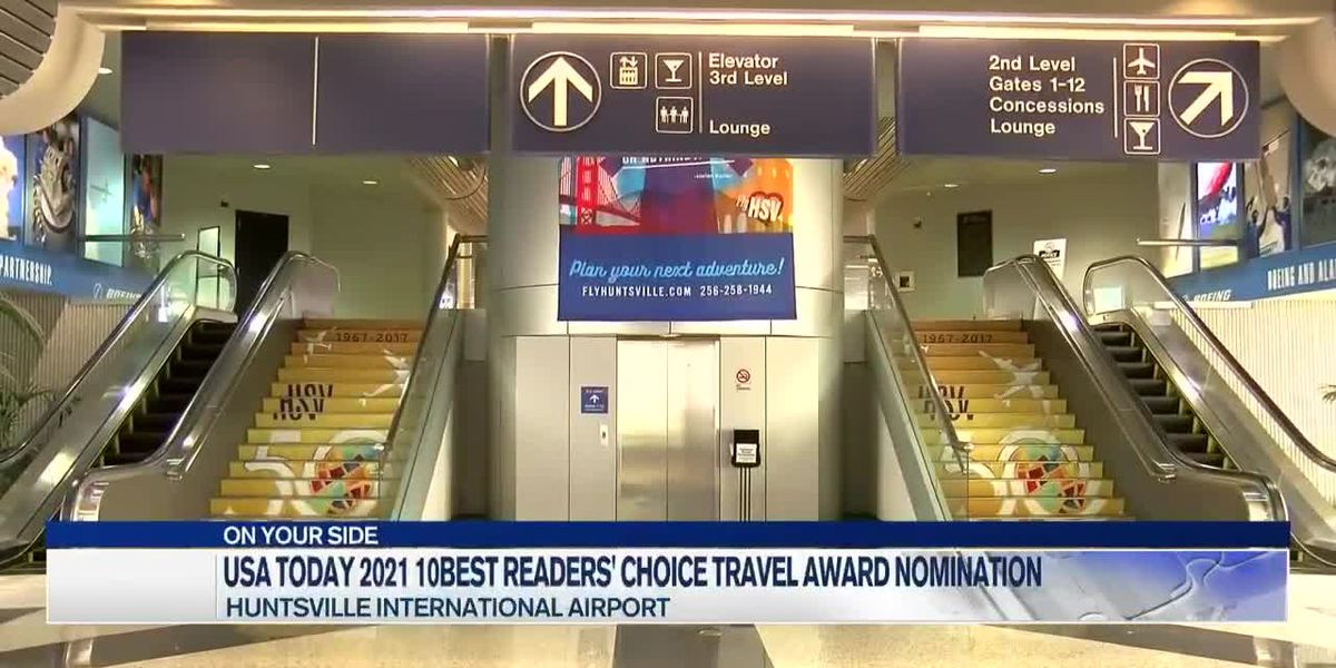 Huntsville International Airport nominated for USA Today 10Best Readers' Choice travel award