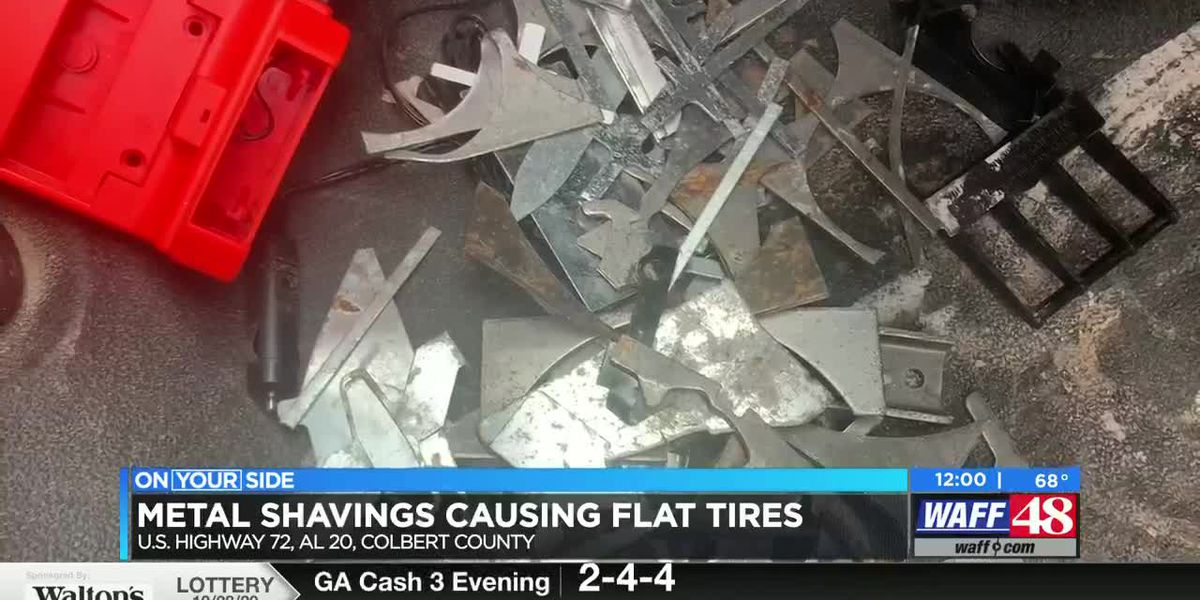 """It was just scattered, littered all over both lanes:' Metal debris spill leads to almost 100 flat tires across north Alabama"