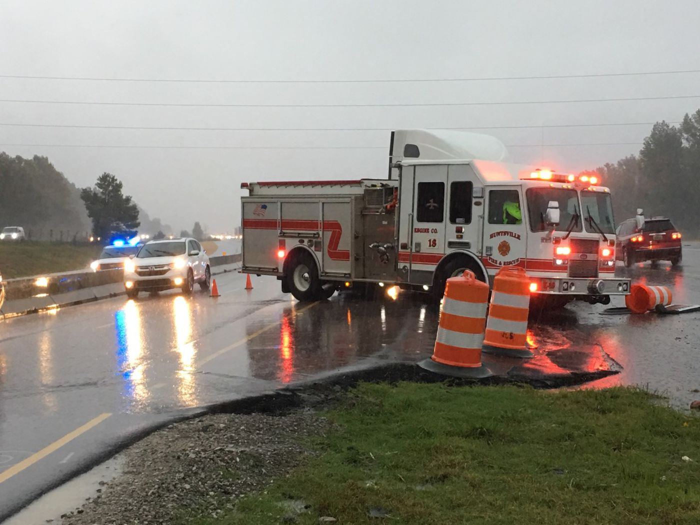 Another look at an accident involving a fire truck on I-565