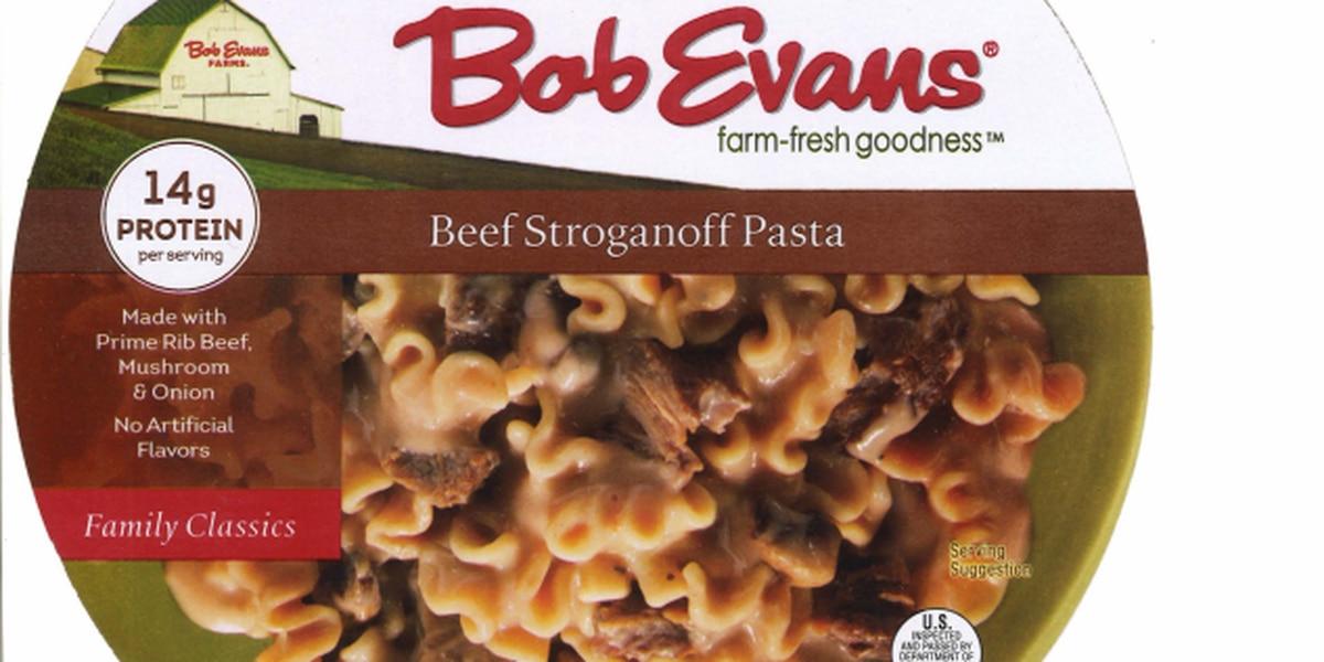 Bob Evans recalls beef stroganoff trays