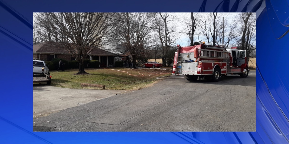 Fire crews respond to a house fire in Huntsville on Tuesday