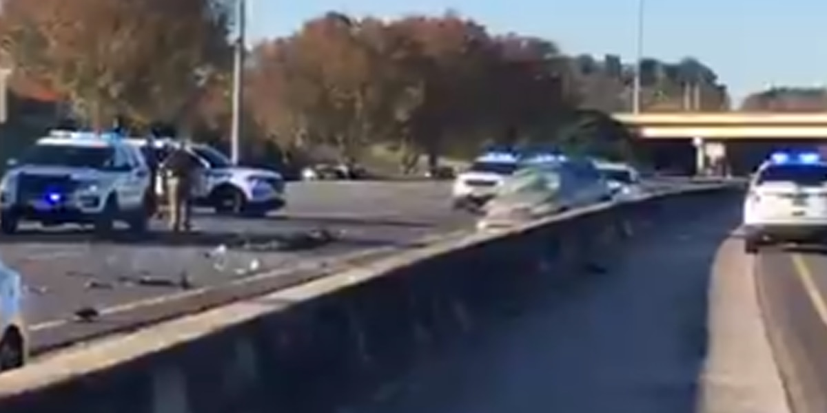 Vehicle traveling wrong way on I-565 Eastbound leads to crash resulting in lane closures