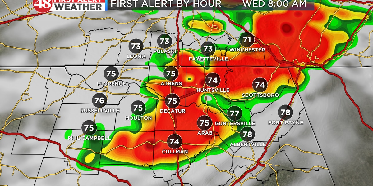 More thunderstorms likely Wednesday