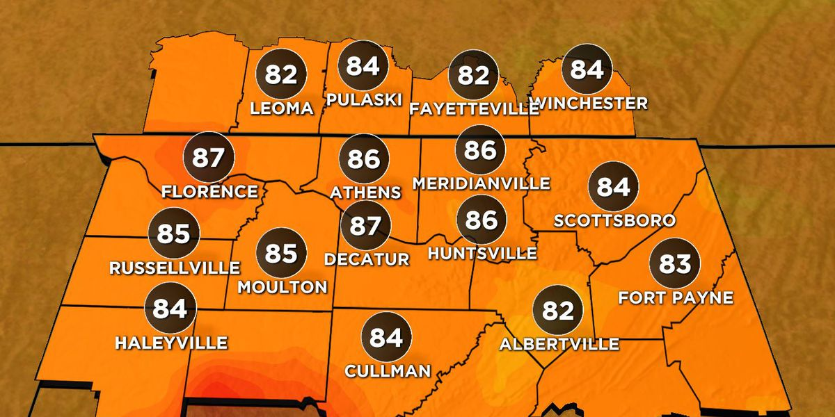 Hot and dry, highs in the 90s