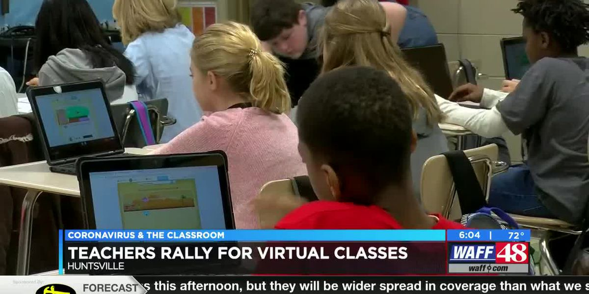 Teachers rally across the state for virtual classes