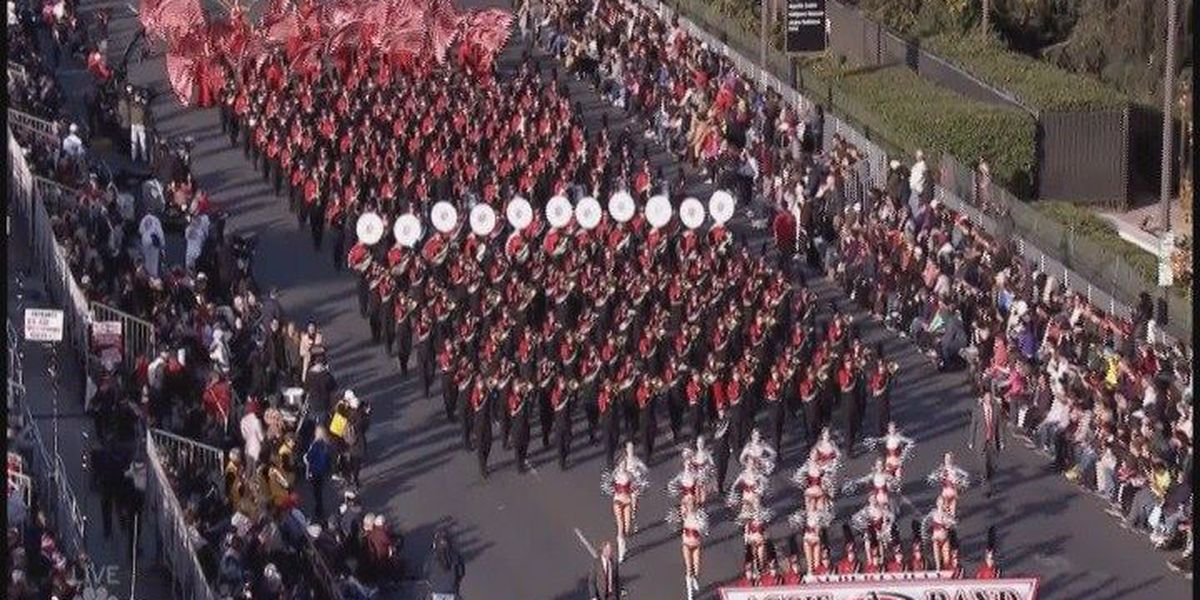 Albertville Aggie Band shines in 2018 Rose Bowl Parade performance