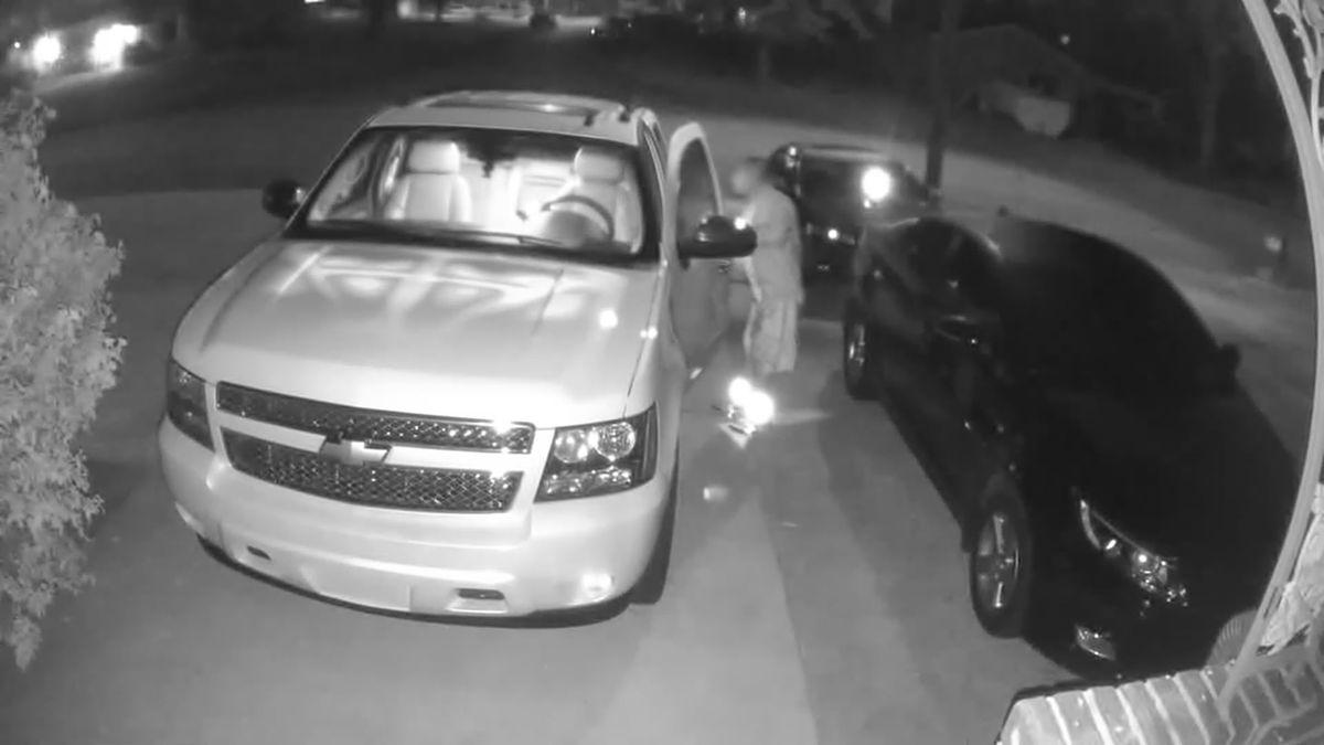 Crime Stoppers: Suspect rummaged through unlocked cars in Huntsville neighborhood