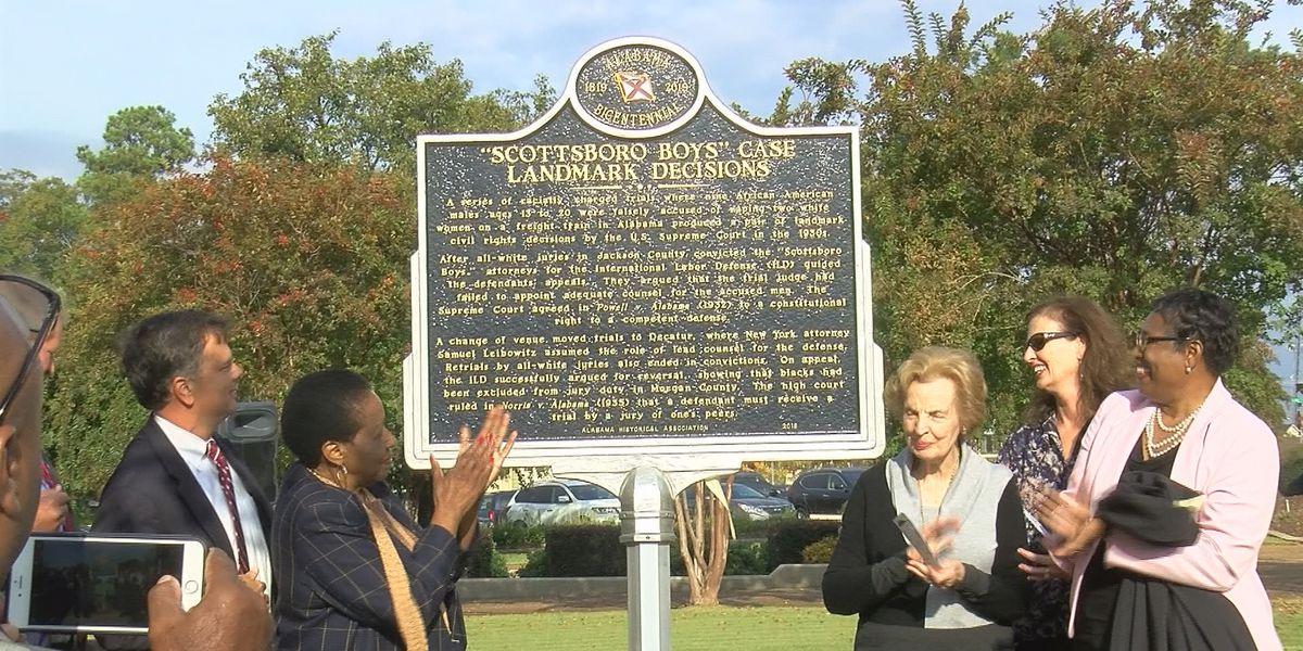 Marker honoring Scottsboro Boys unveiled in Morgan County