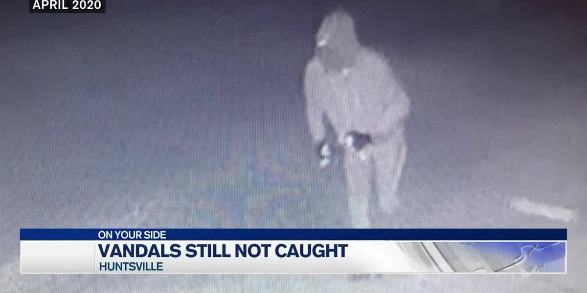 Huntsville Police hoping public can help track down synagogue vandal