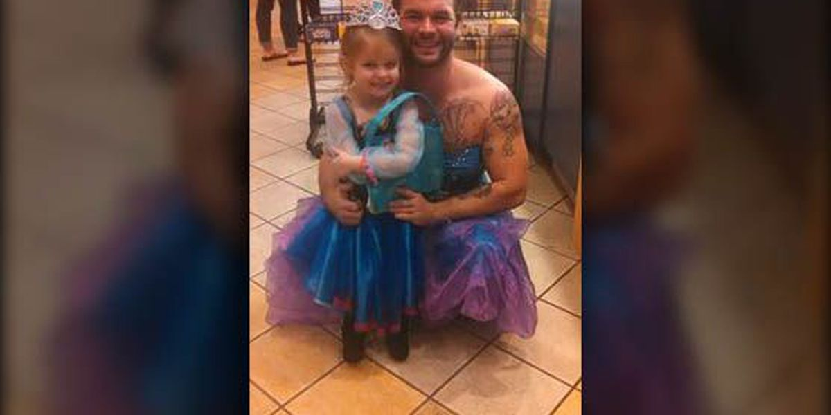 Uncle wears princess dress for 4-year-old Florence girl for the best reason