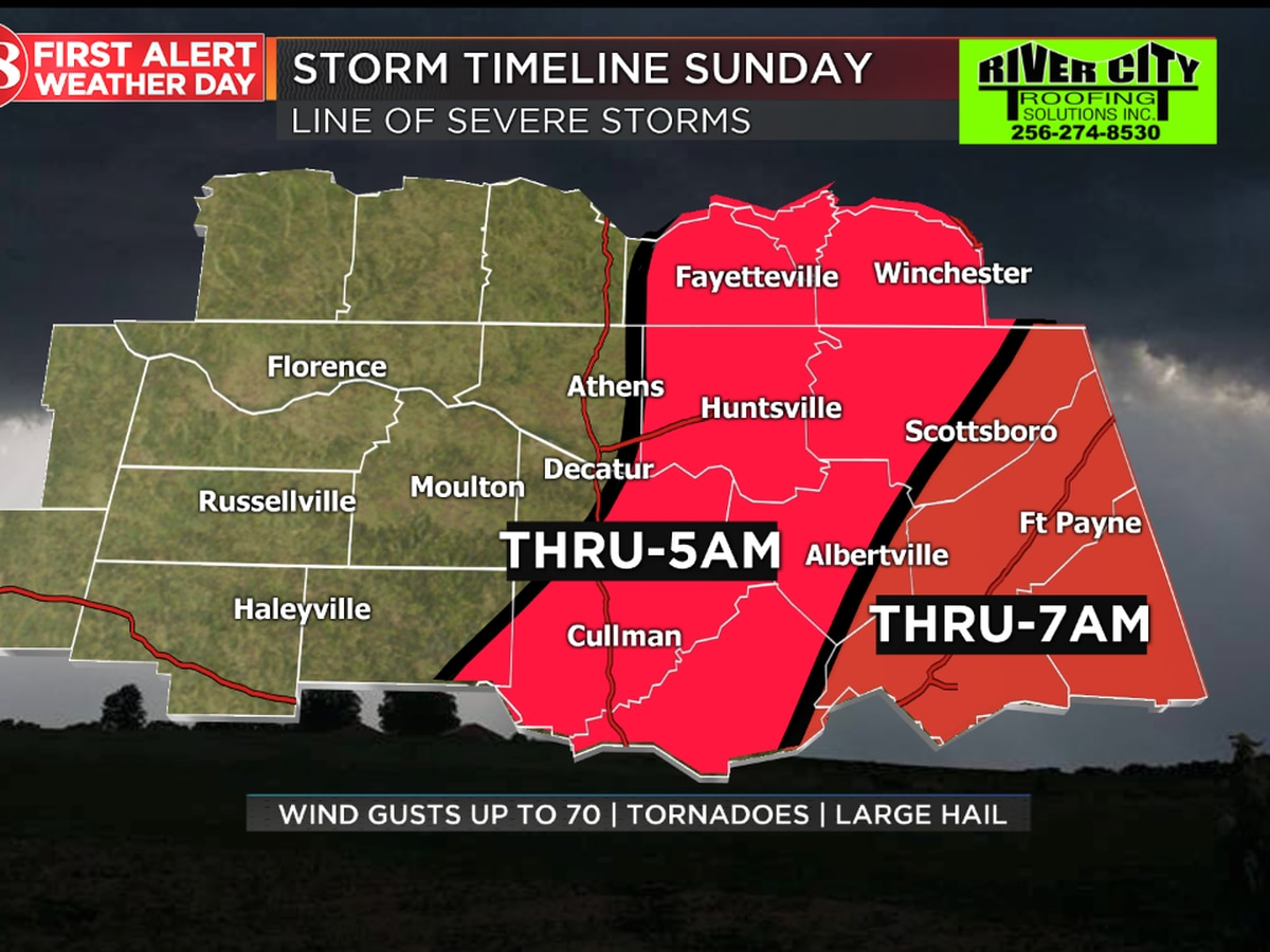 FIRST ALERT WEATHER DAY: Severe storm chances remain