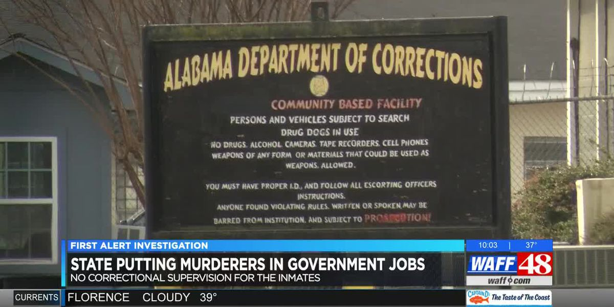 Alabama corrections putting murder convicts in public, unsupervised by department