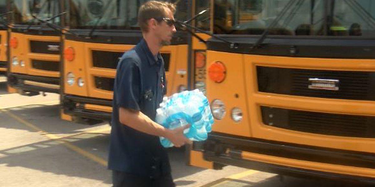 Kroger donates bottled water for Madison school buses
