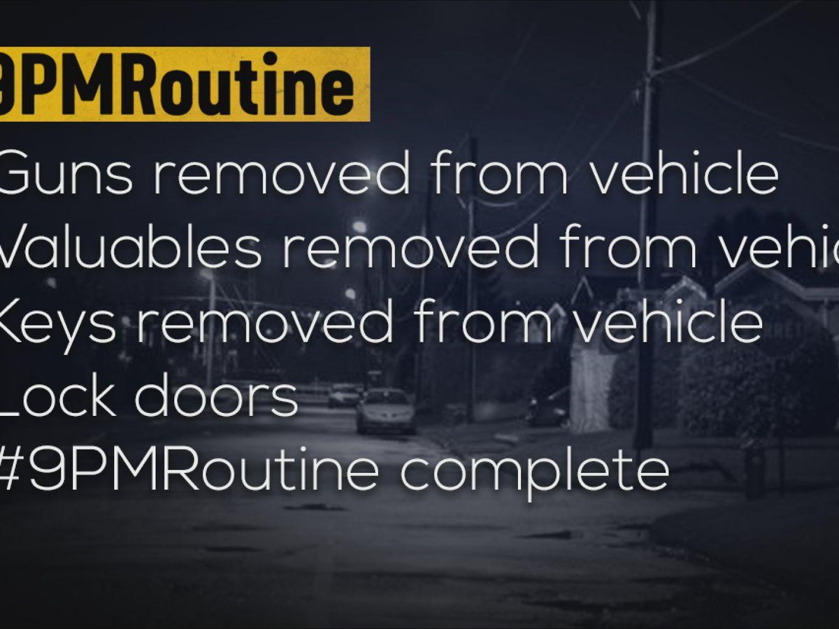 #9PMRoutine: Nightly social media initiative to curb car break-ins
