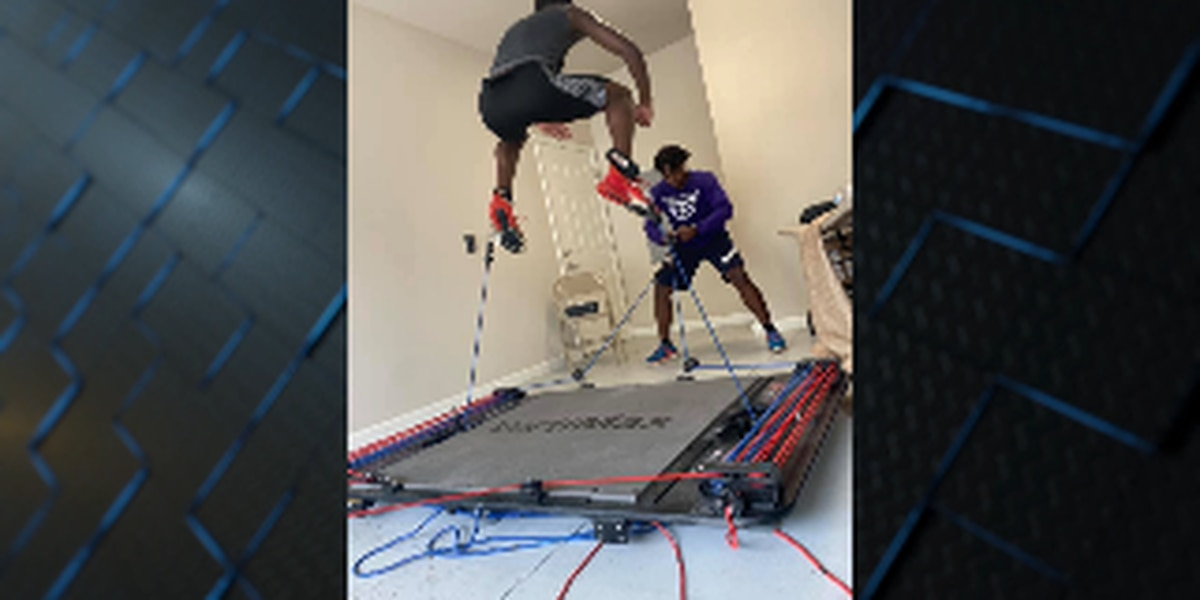 Area athletes train on Vertimax