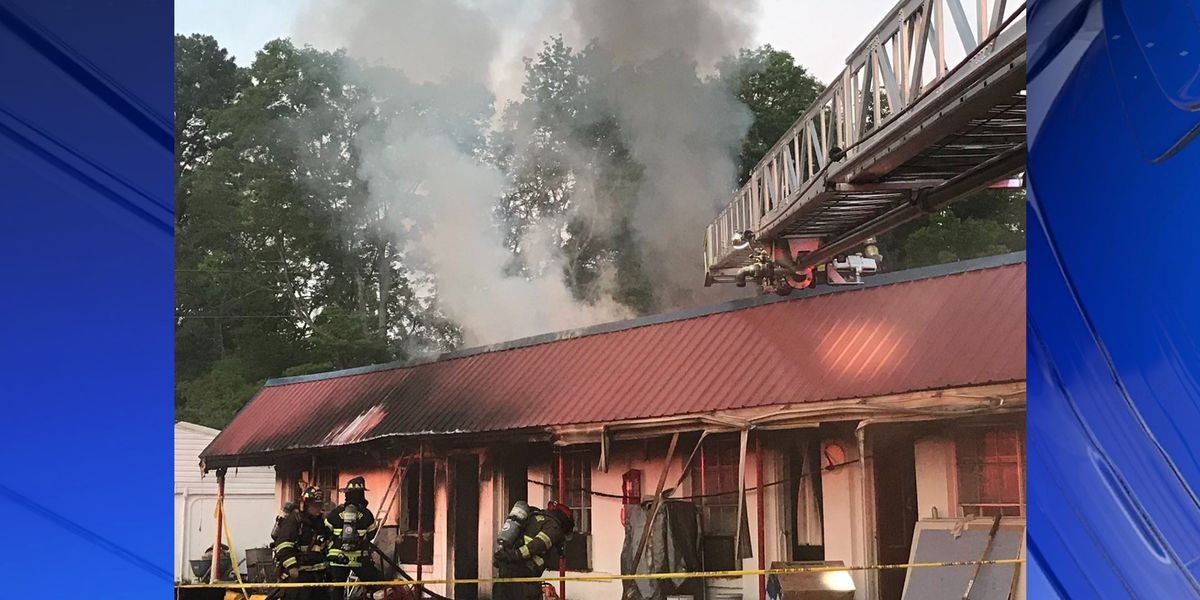 Crews respond to Monday morning fire at American Inn in Decatur