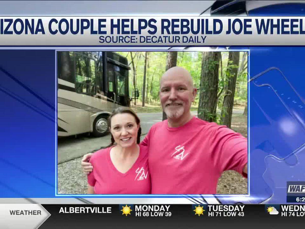 Arizona couple receives award for help in rebuilding Joe Wheeler State Park