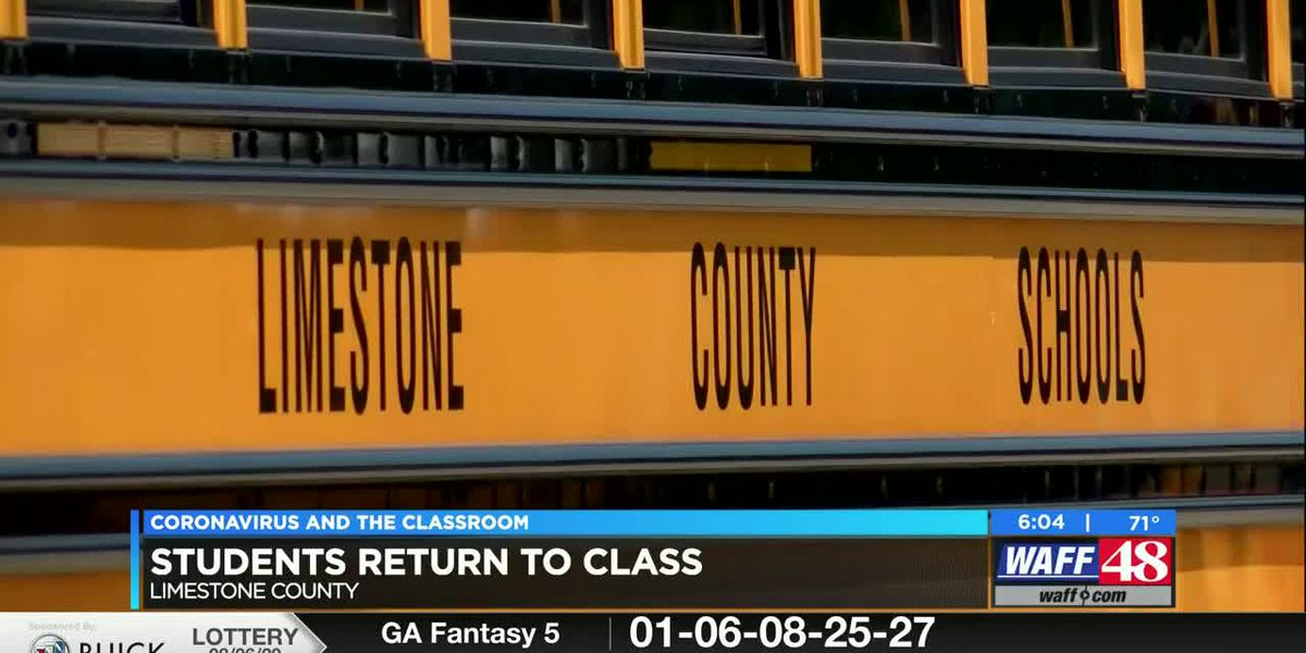 First day of school for students in Limestone County