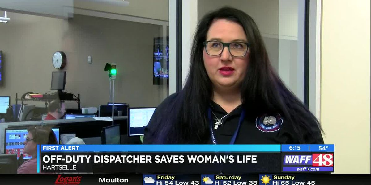 Off-duty 911 dispatcher saves Hartselle woman's life