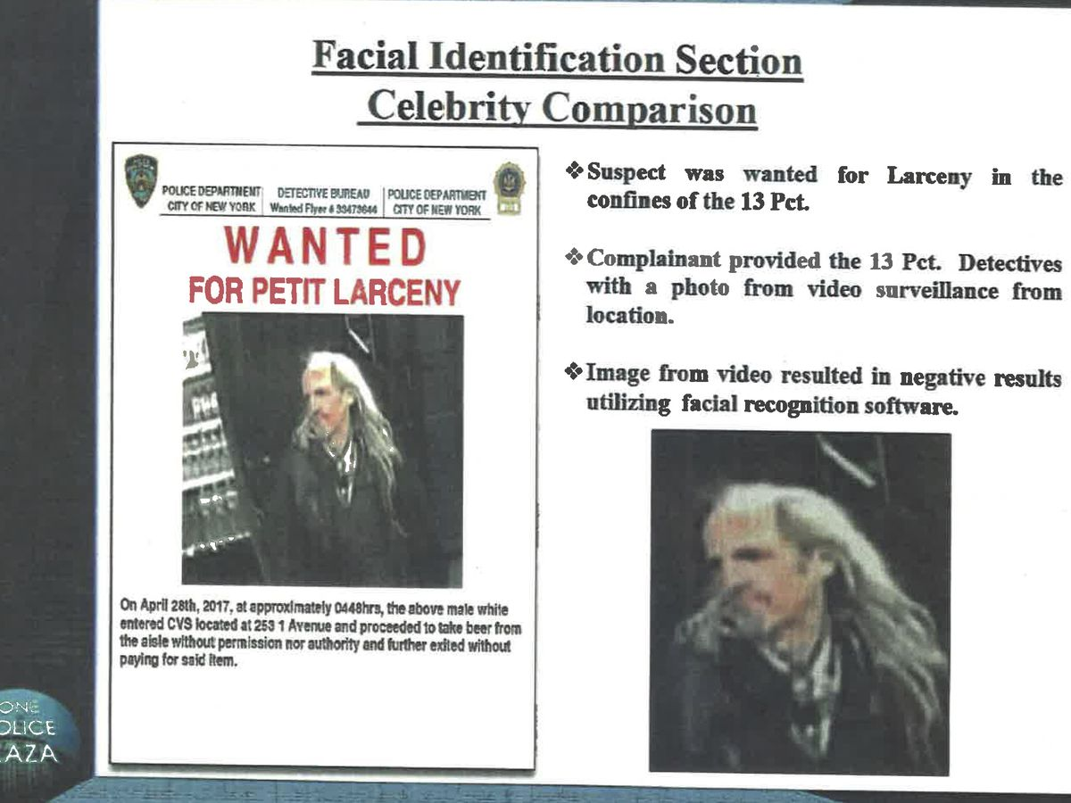 NYPD used Woody Harrelson photo to find lookalike beer thief, report says