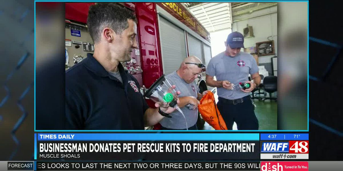 Muscle Shoals businessman donates pet rescue kits to fire department