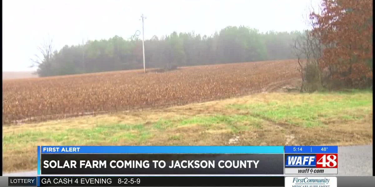 Largest solar farm in Alabama to be constructed in Jackson County to feed Google data center
