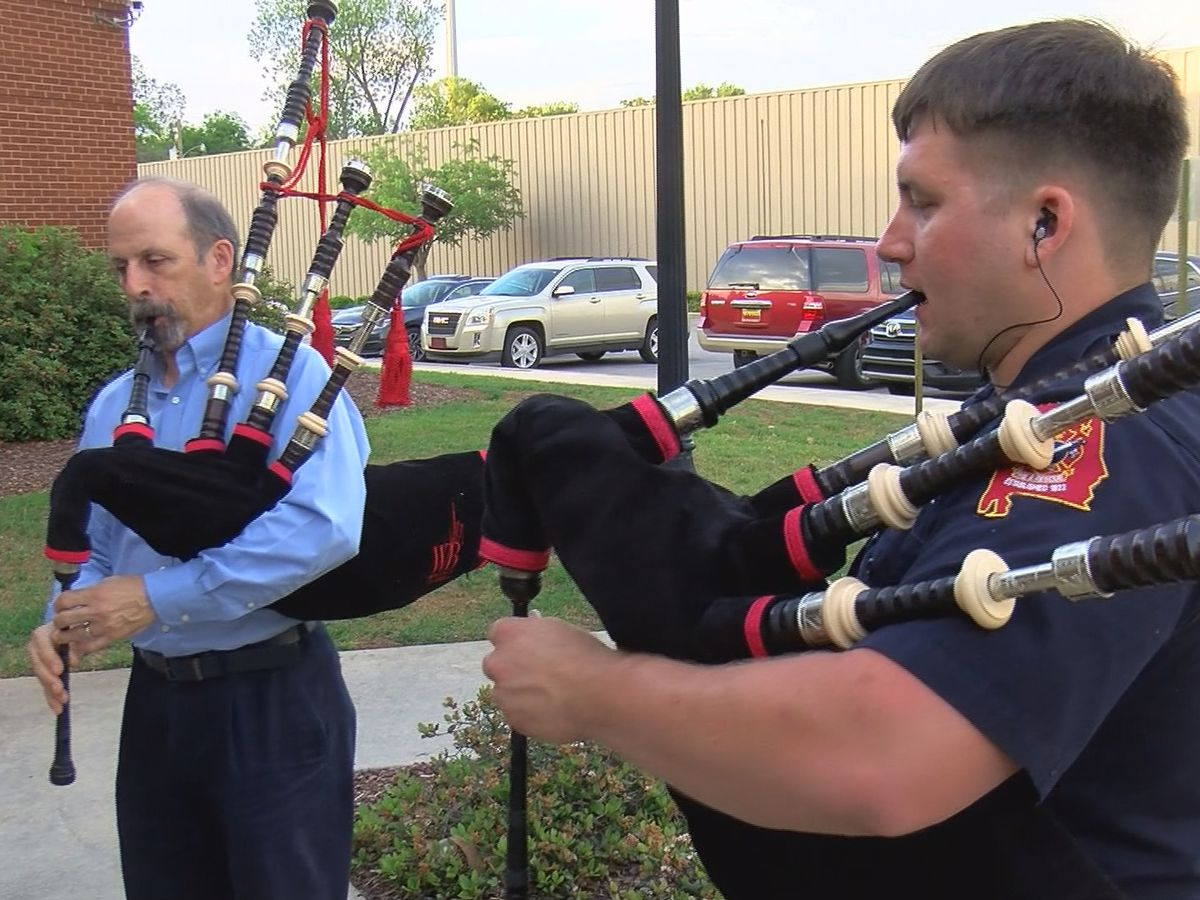 Huntsville has state's first and only firefighter pipe and drum band