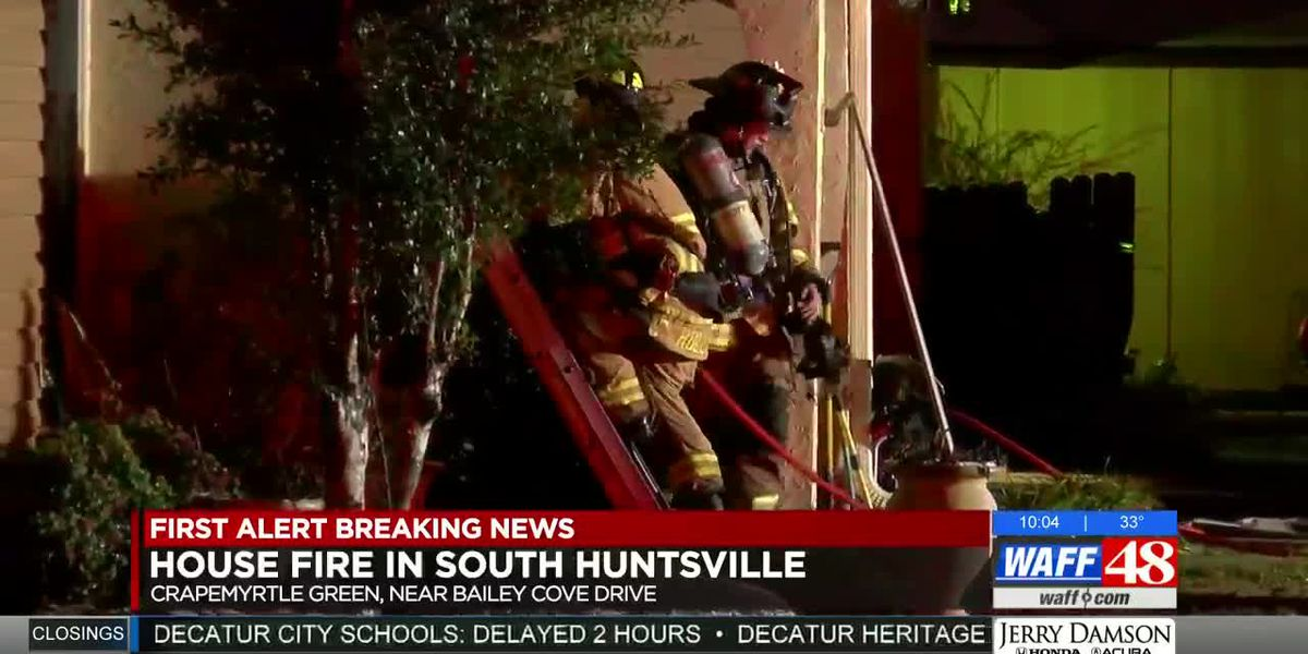 No one hurt in south Huntsville house fire