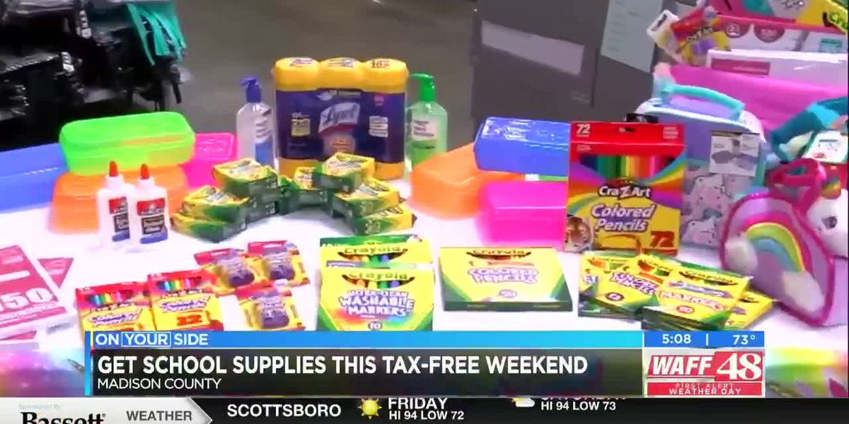 School supplies to buy this tax-free weekend
