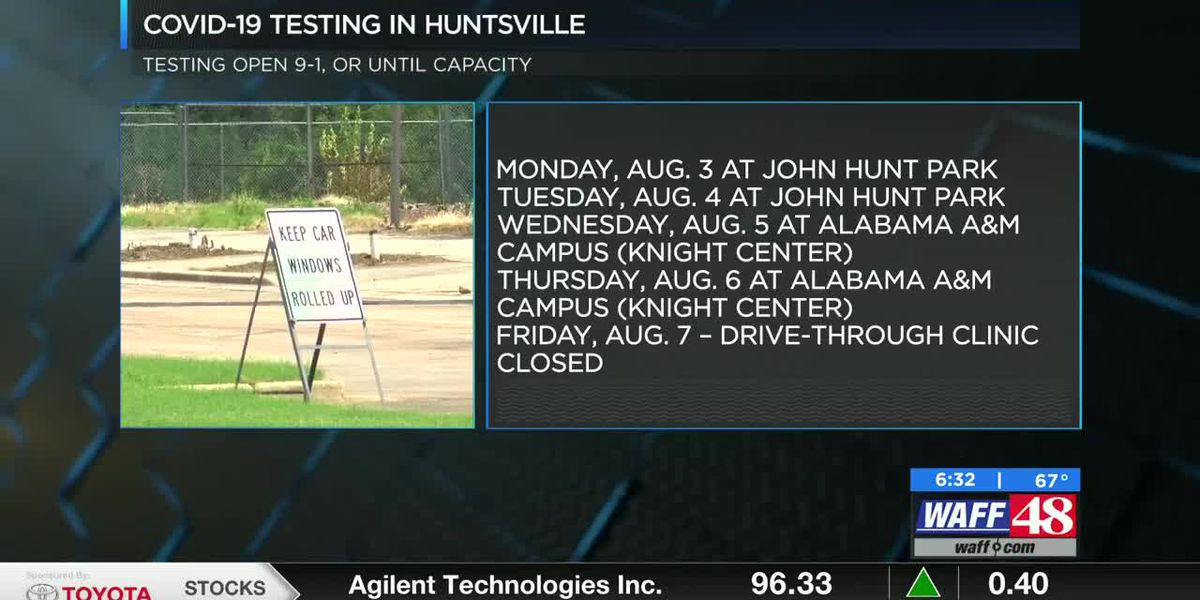 John Hunt Park testing site in Huntsville is on the move