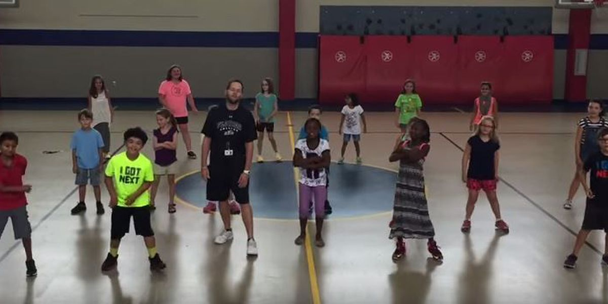 WATCH: Harvest Elementary students 'whip & nae nae' to workout