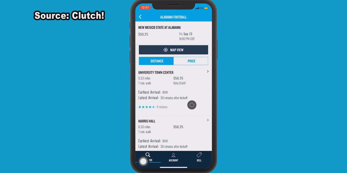 Parking app can help take stress out of Alabama home opener