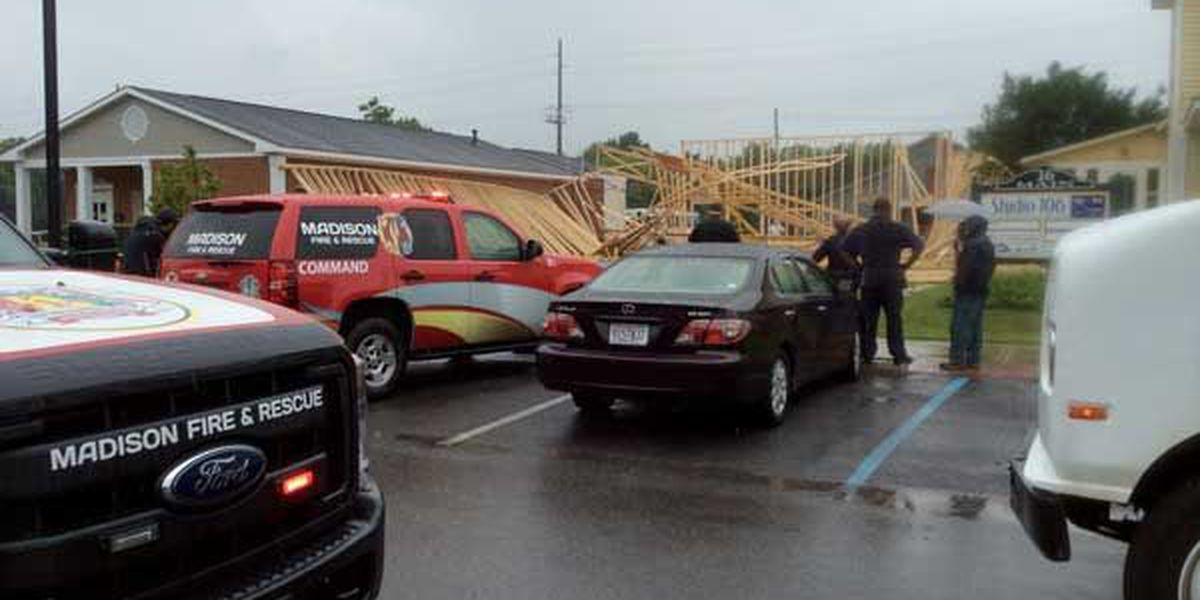 Minor injuries in construction site collapse in Madison
