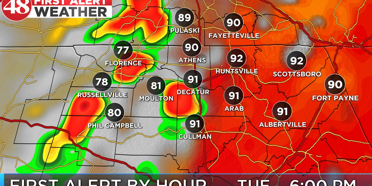 Hot & humid today, Remnants of Barry bring storms again this evening