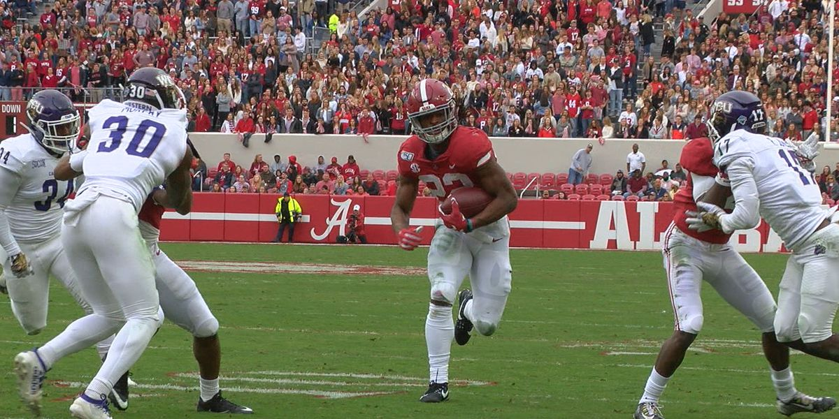 Alabama's focus now shifts to Iron Bowl as Tide roll past Western Carolina 66-3