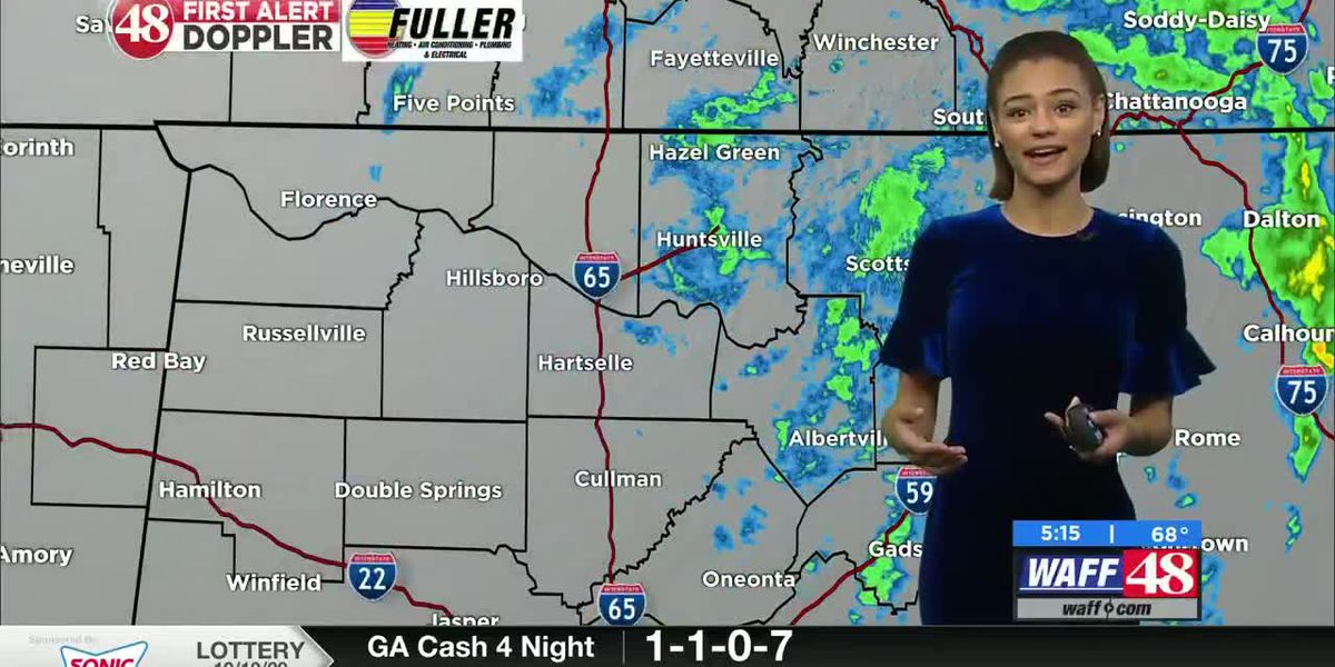 Rainy today, but drier workweek ahead