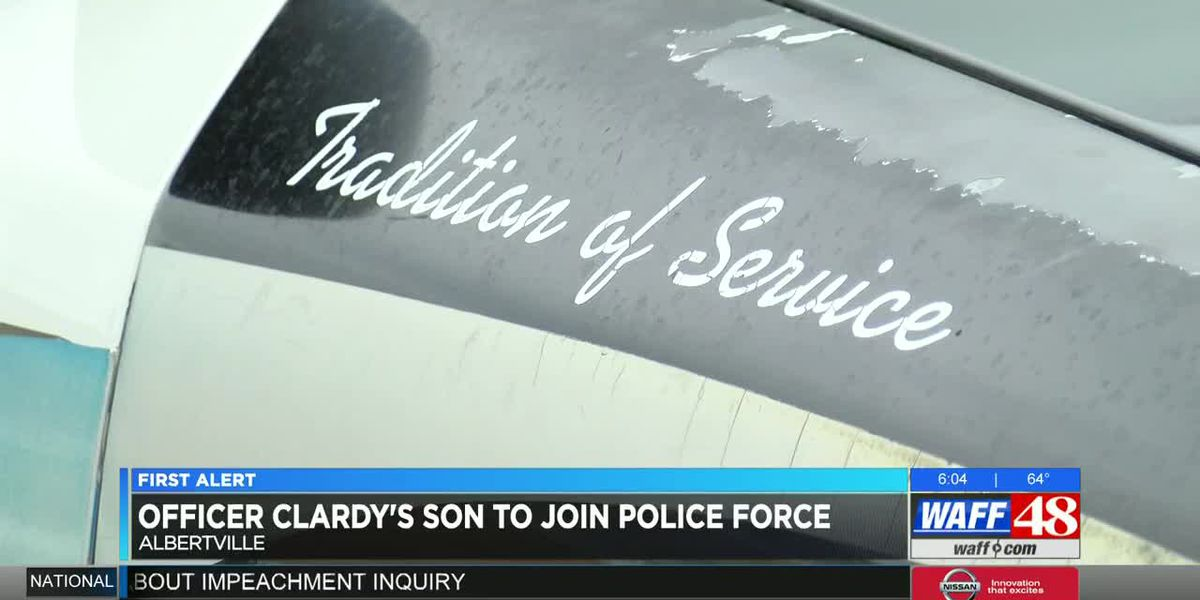 Son of officer Billy Clardy III to become Albertville police officer