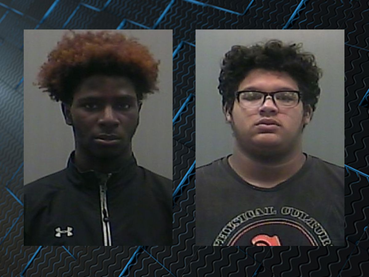 2 charged with shooting at car outside Clements High School