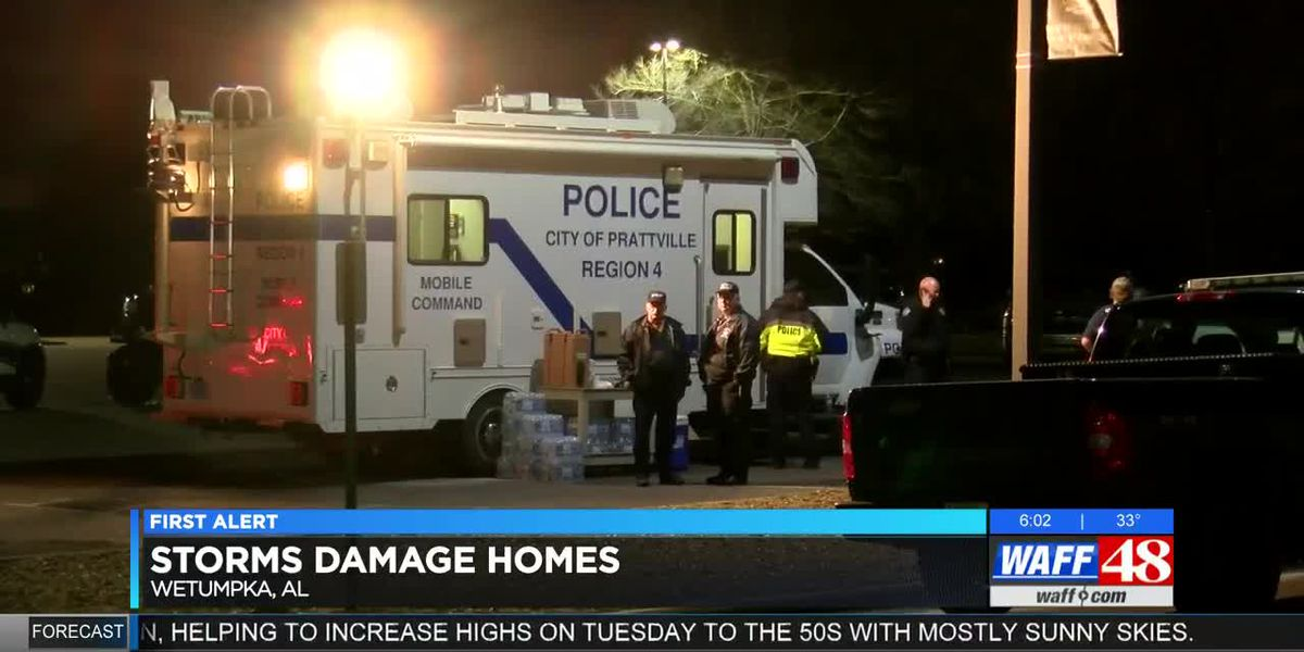 Storms damage homes in Wetumpka