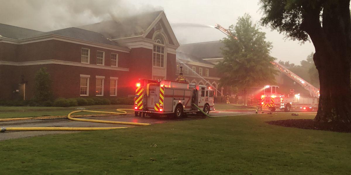 Investigators believe lightning strike caused music building fire at the University of Alabama