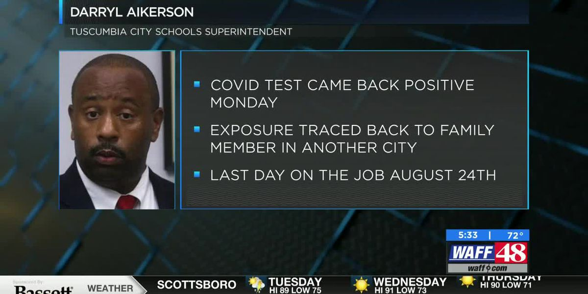 Tuscumbia City Schools Superintendent tests COVID-19 positive
