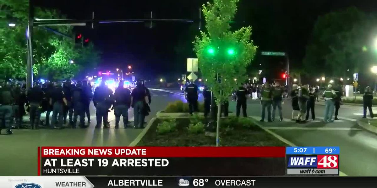 Huntsville police discuss Wednesday night protests