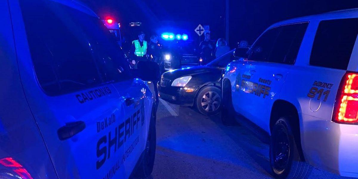 DeKalb County sheriff's vehicle struck during chase, deputies say