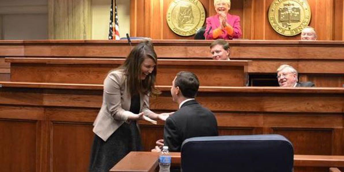 Senator Scofield proposes to girlfriend on senate floor