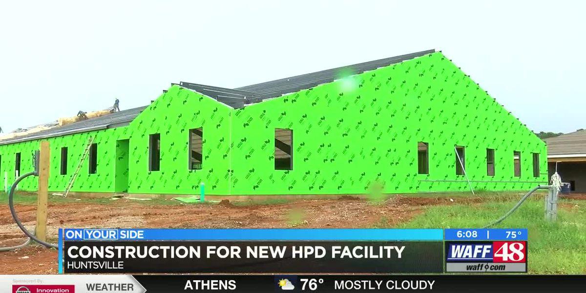 New Huntsville PD training facility under construction