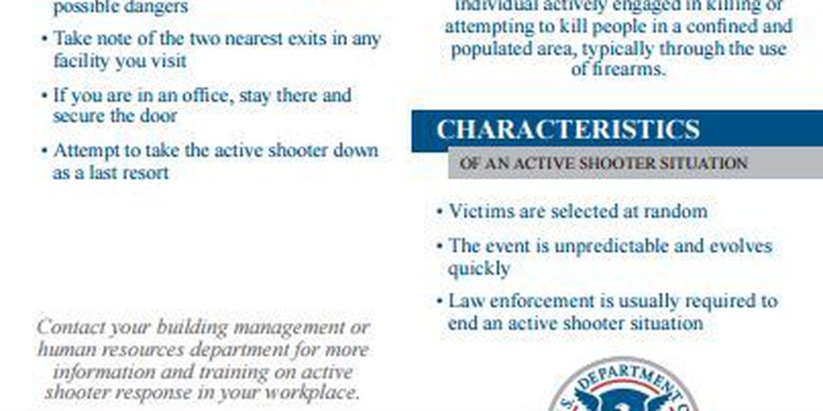 (PDF file): How to respond in an active shooter situation